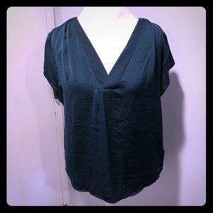 H&M hunter green blouse size 12